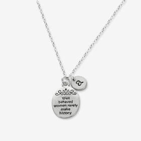Well Behaved Women Personalized Charm Necklace