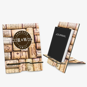 Wine Corks Personalized Book and Ipad Stand