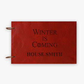 Winter Is Coming Custom Leather Book Binder w/ Rings