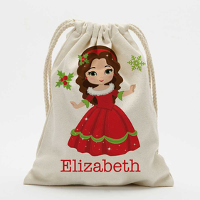 Winter Princess Personalized Drawstring Sack