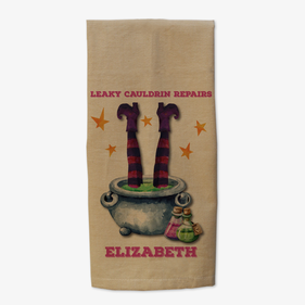 Witch's Brew Personalized Kitchen Towel