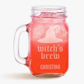Witch's Brew Personalized Mason Jar