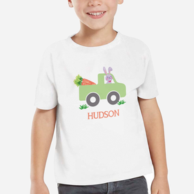 Working Bunny Personalized Kids T-Shirt