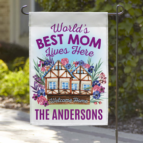 World's Best Mom Custom Garden Flag