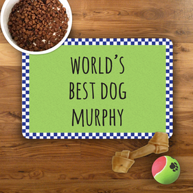World's Best...Personalized Pet Placemat