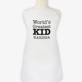 World's Greatest Kid Personalized Apron