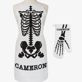X-Ray Custom Adult 2-Piece Halloween Apron & Potholder Set