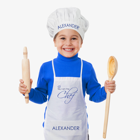 Yes I Am The Chef Personalized Apron & Hat Set