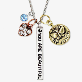 You Are Beautiful Custom Charm Necklace