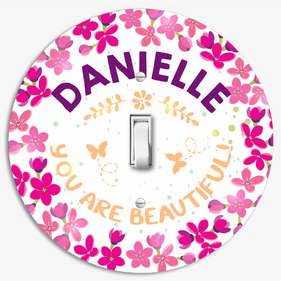 You Are Beautiful Personalized Round Light Switch Cover