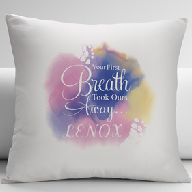 Your First Breath Customized Baby Decorative Cushion Cover