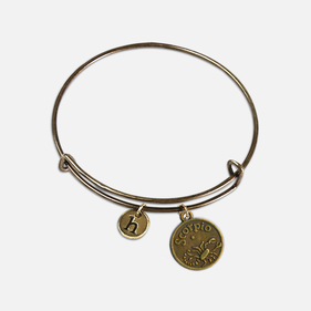 Zodiac Custom Antique Charm Bangle