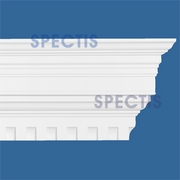 "Spectis Crown Moulding Dentil Trim MD1412A or MD 1412A Moulding - 7""P X 14 3/8""H X 12'0""L"