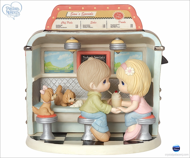 Couple in Dining Car Figurine