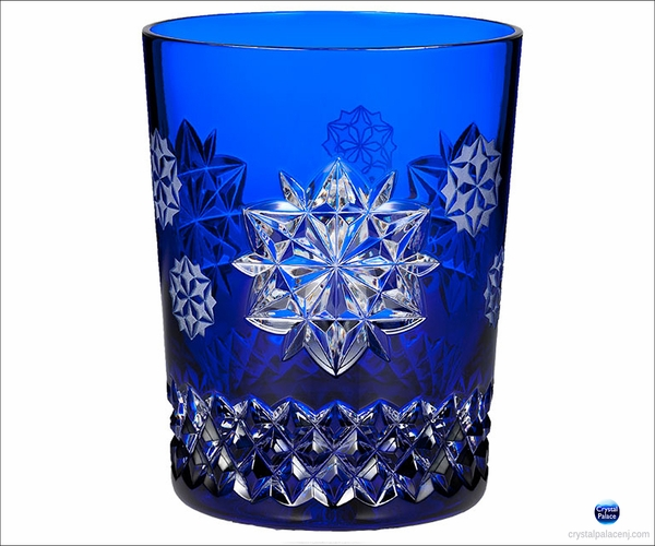 2017 Waterford Snowflake Wishes Friendship Prestige DOF Glass, Cobalt