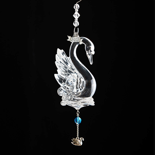 (SOLD OUT) 2013  Waterford 12 Days of Christmas 7 Swans Swimming Ornament