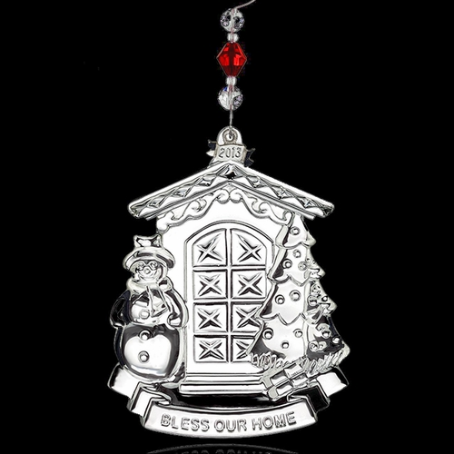 (SOLD OUT) 2013 Waterford  Bless Our Home Christmas Ornament
