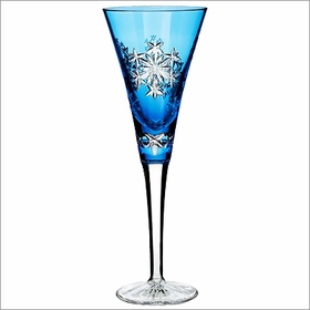 2013 Waterford Snowflake Wishes Goodwill Prestige Light Blue Flute
