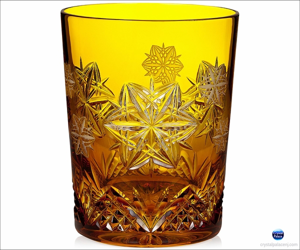 2014 Waterford Snowflake Wishes Peace Amber Prestige DOF Glass