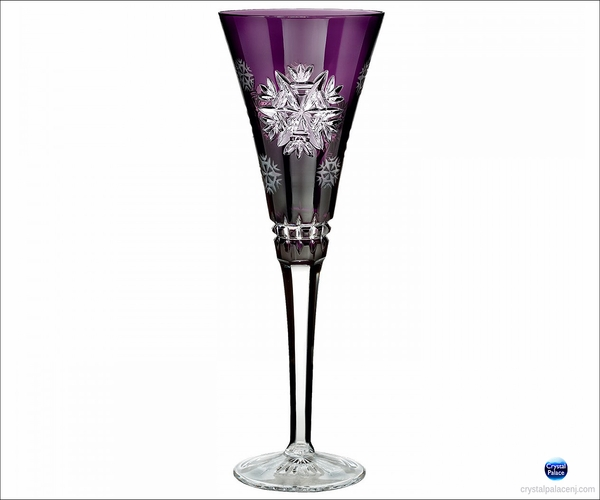2015 Waterford Snowflake Wishes Health Amethyst Prestige Flute