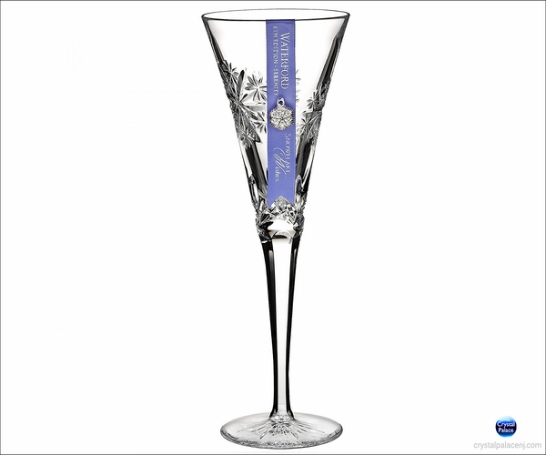 2016 Waterford Snowflake Wishes Serenity Flute, Clear