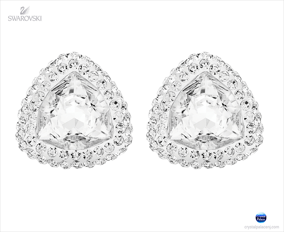 Sold Out Swarovski Begin Stud Pierced Earrings Clear Crystal