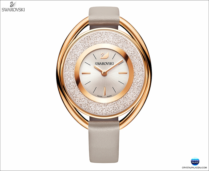 (SOLD OUT)   Crystalline Oval Rose Gold Tone Watch