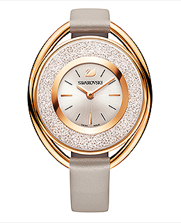 Crystalline Oval Rose Gold Tone Watch