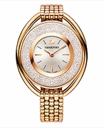 (SOLD OUT) Crystalline Oval Rose Gold Tone Bracelet Watch