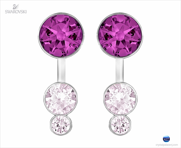 Swarovski Slake Dot Pierced Earring Jackets  purple