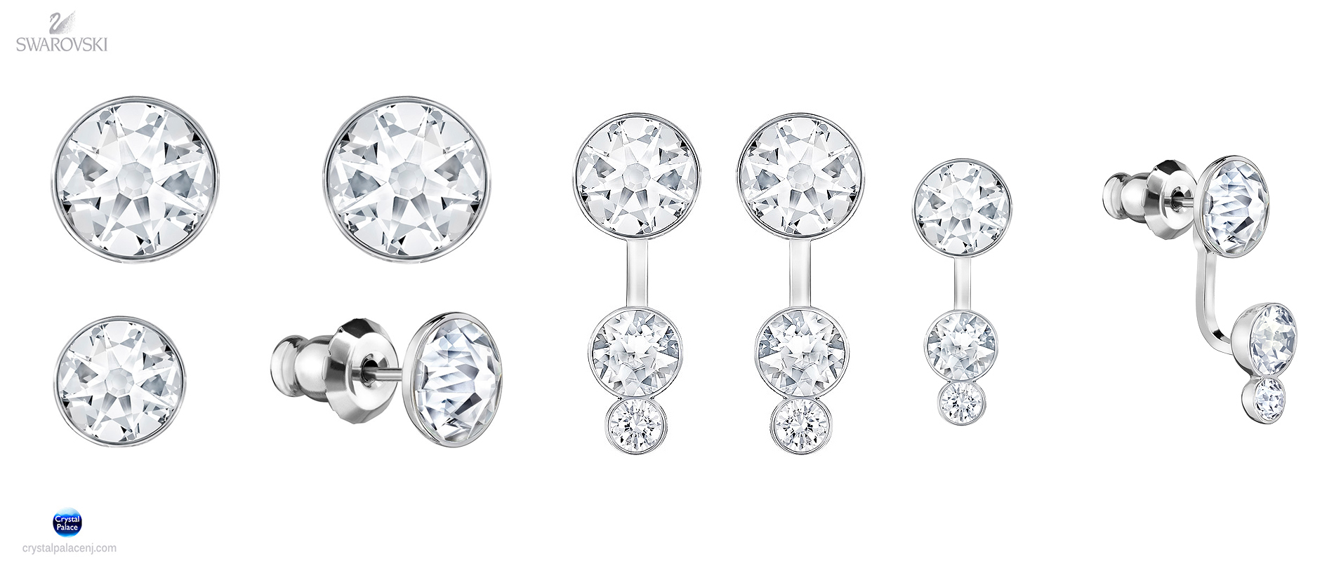 92406d730b91d 5201104 Swarovski Jewelry Slake Dot Pierced Earring Jackets rhodium ...
