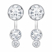 Swarovski Slake Dot Pierced Earring Jackets rhodium-plated