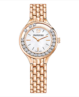 Lovely Crystals Mini Watch Rose Gold Tone