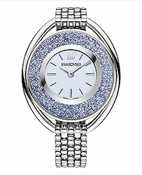 Crystalline Oval Watch Silver Tone