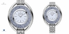 (SOLD OUT) Crystalline Oval Watch Silver Tone