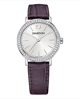 Graceful Mini Watch Violet, Silver tone
