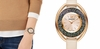 Crystalline Oval Watch,  Rose gold tone
