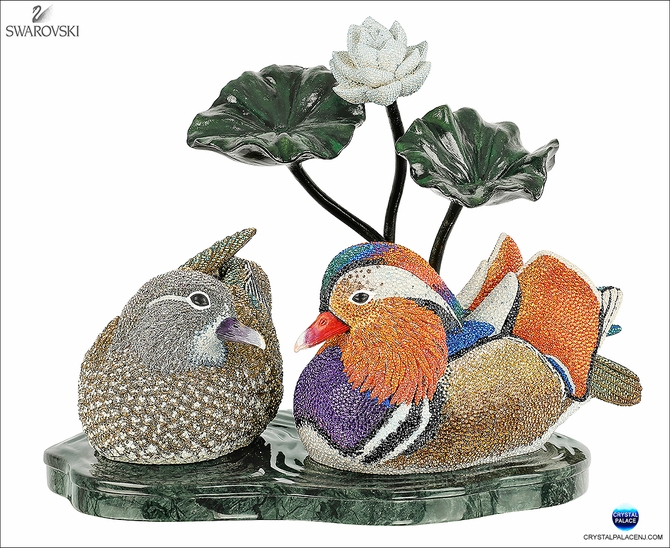 Crystal Myriad Mandarin Duck Couple