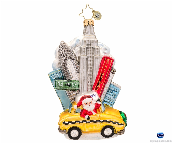 (SOLD OUT)  Big Apple Sights Radko Christmas Ornament