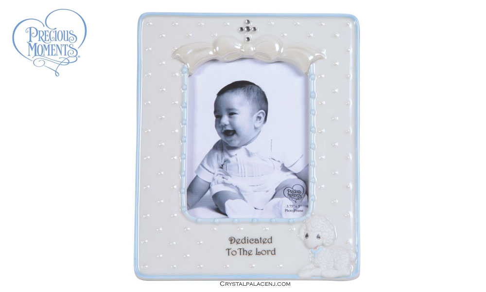 Precious Moments Blue Dedication Picture Frame