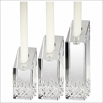 Waterford Lismore Essence Candlesticks, Set of 3