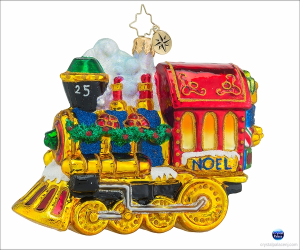 Christopher Radko All Aboard! Christmas Ornament