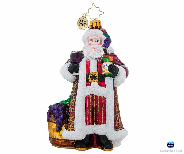 (SOLD OUT) Christopher Radko Cheers to You Red Christmas Ornament