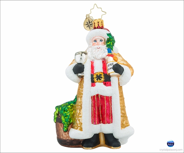 Christopher Radko Cheers to You White Christmas Ornament