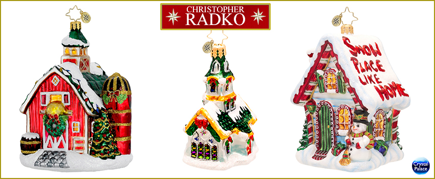 Cottages - Houses  Radko Ornaments