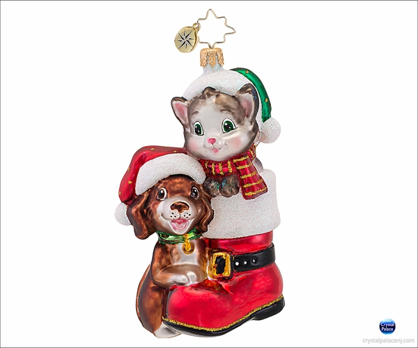 (SOLD OUT) Cute in a Boot  Animal Charities   Radko  Ornament
