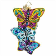 Christopher Radko Fluttering Elegance Christmas Ornament
