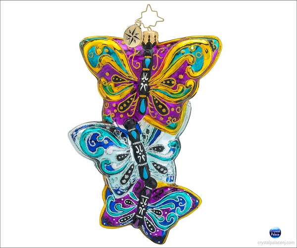 (SOLD OUT)  Christopher Radko Fluttering Elegance Christmas Ornament