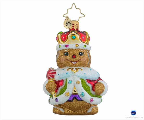 (SOLD OUT)  Christopher Radko Ginger King Gem Christmas Ornament