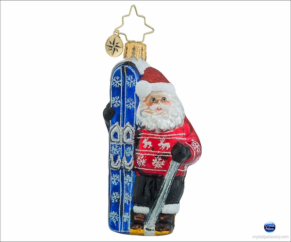 (SOLD OUT) Hitting the Slopes Gem Radko Christmas Ornament